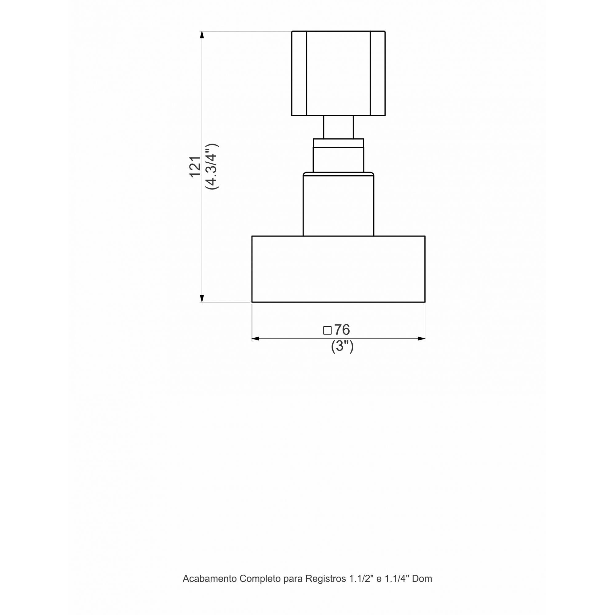 ACABAMENTO PARA REGISTRO 1.1/2 CROMADO DOM C33 1164.1810 - PERFLEX