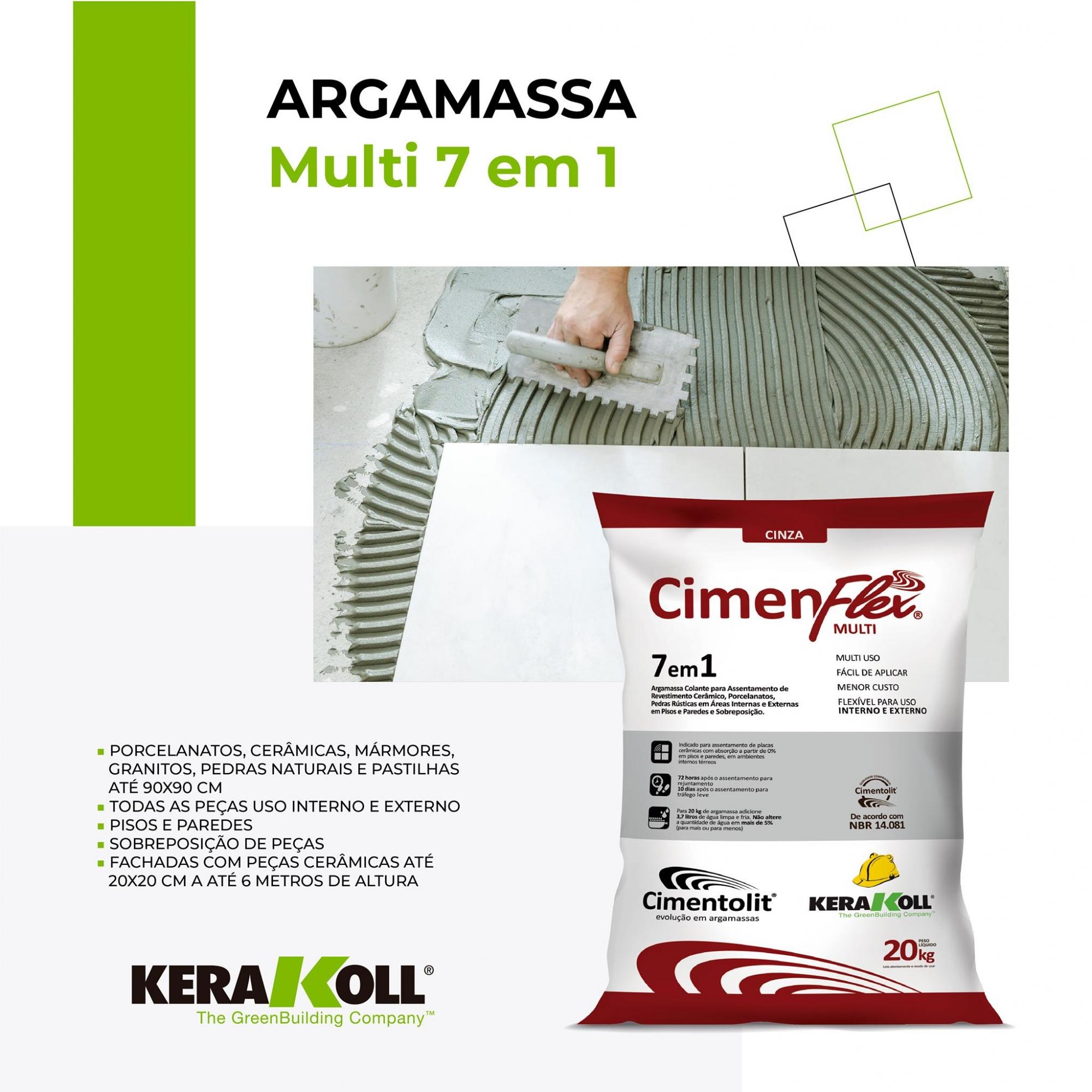 ARGAMASSA CIMENFLEX MULT 7 EM 1 20KG - KERAKOLL