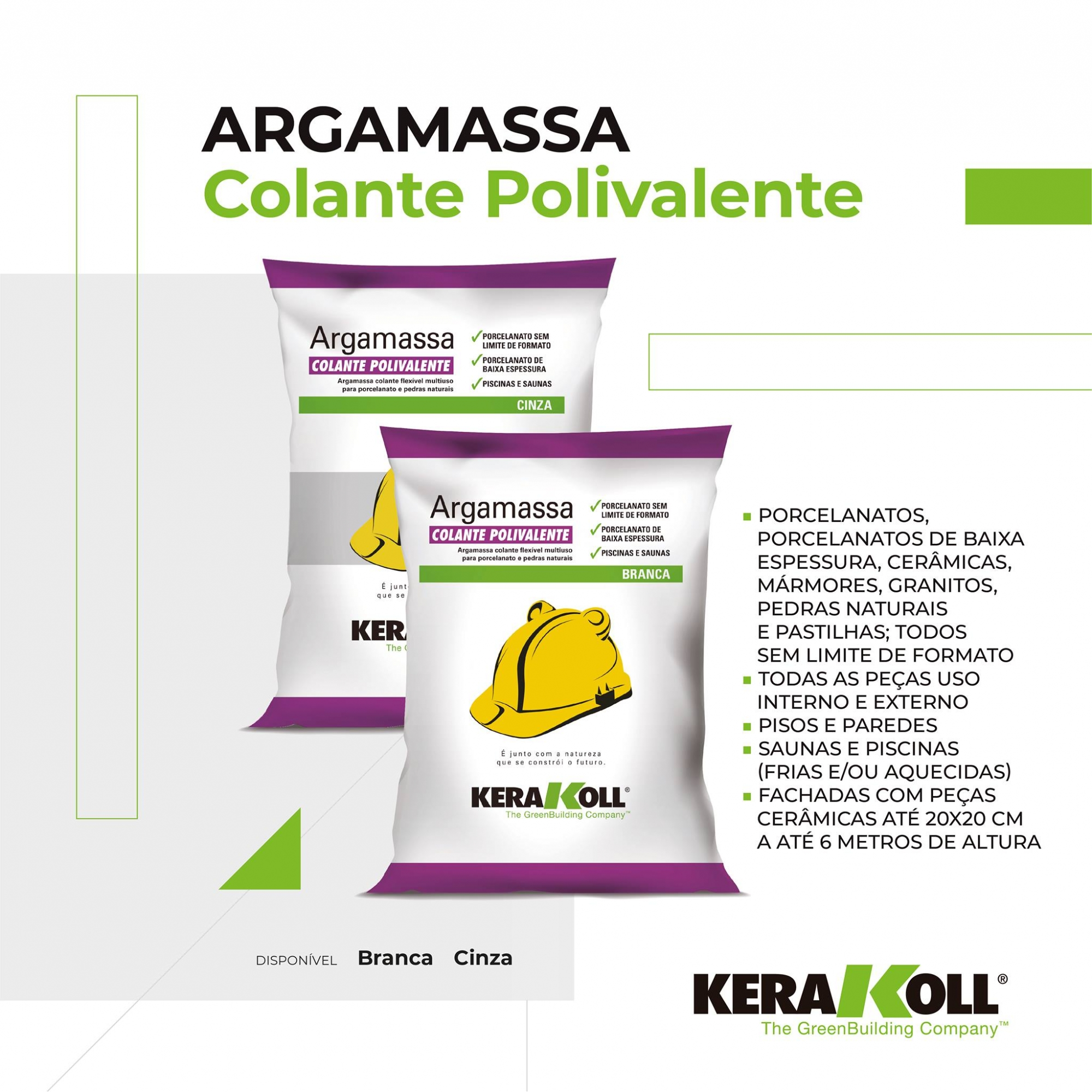 ARGAMASSA COLANTE POLIVALENTE BRANCA 20KG - KERAKOLL