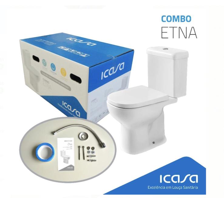 BACIA COM CAIXA ACOPLADA E KIT ACESSÓRIOS ETNA CBETN00 - ICASA