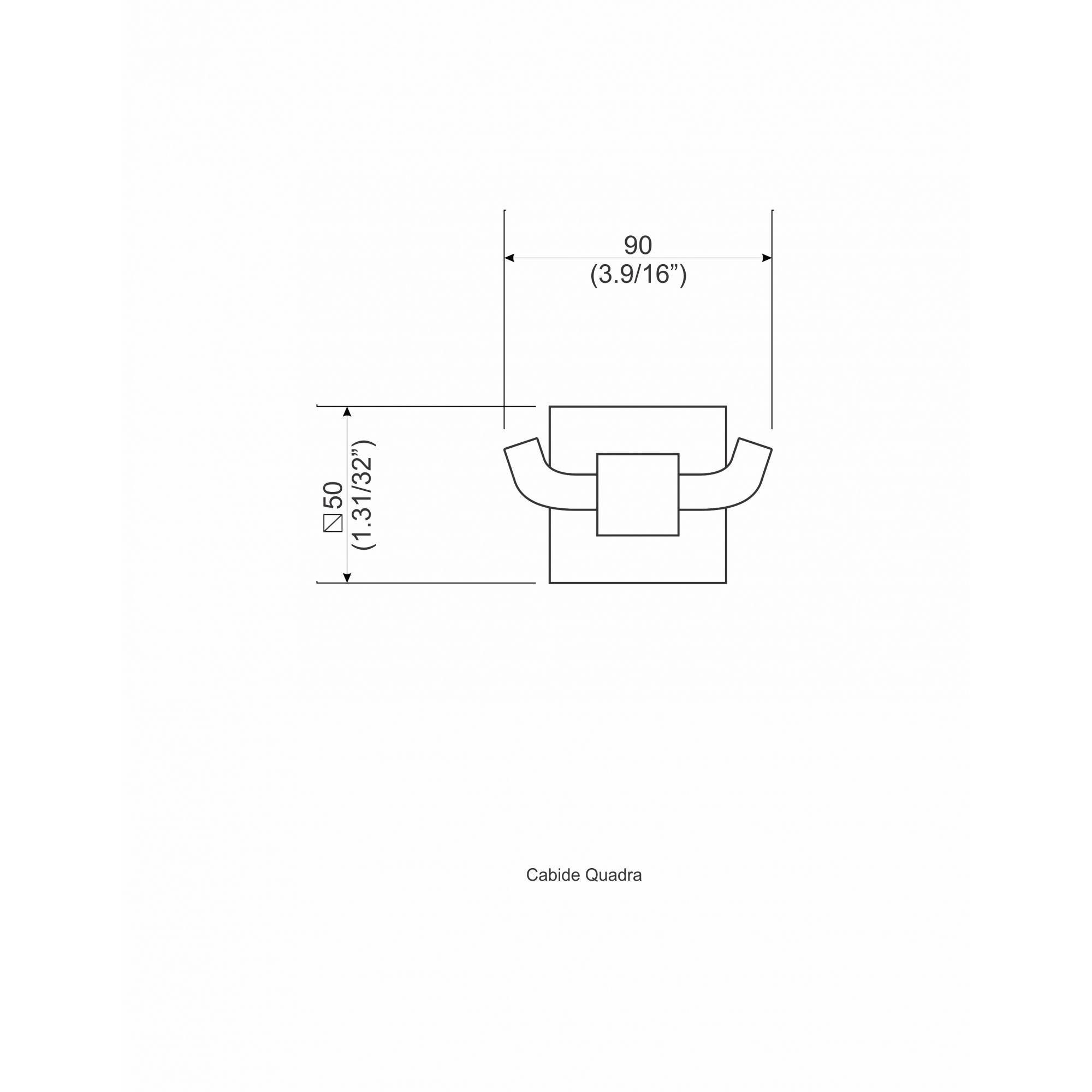 CABIDE QUADRA CROMADO 1212.0710 - PERFLEX