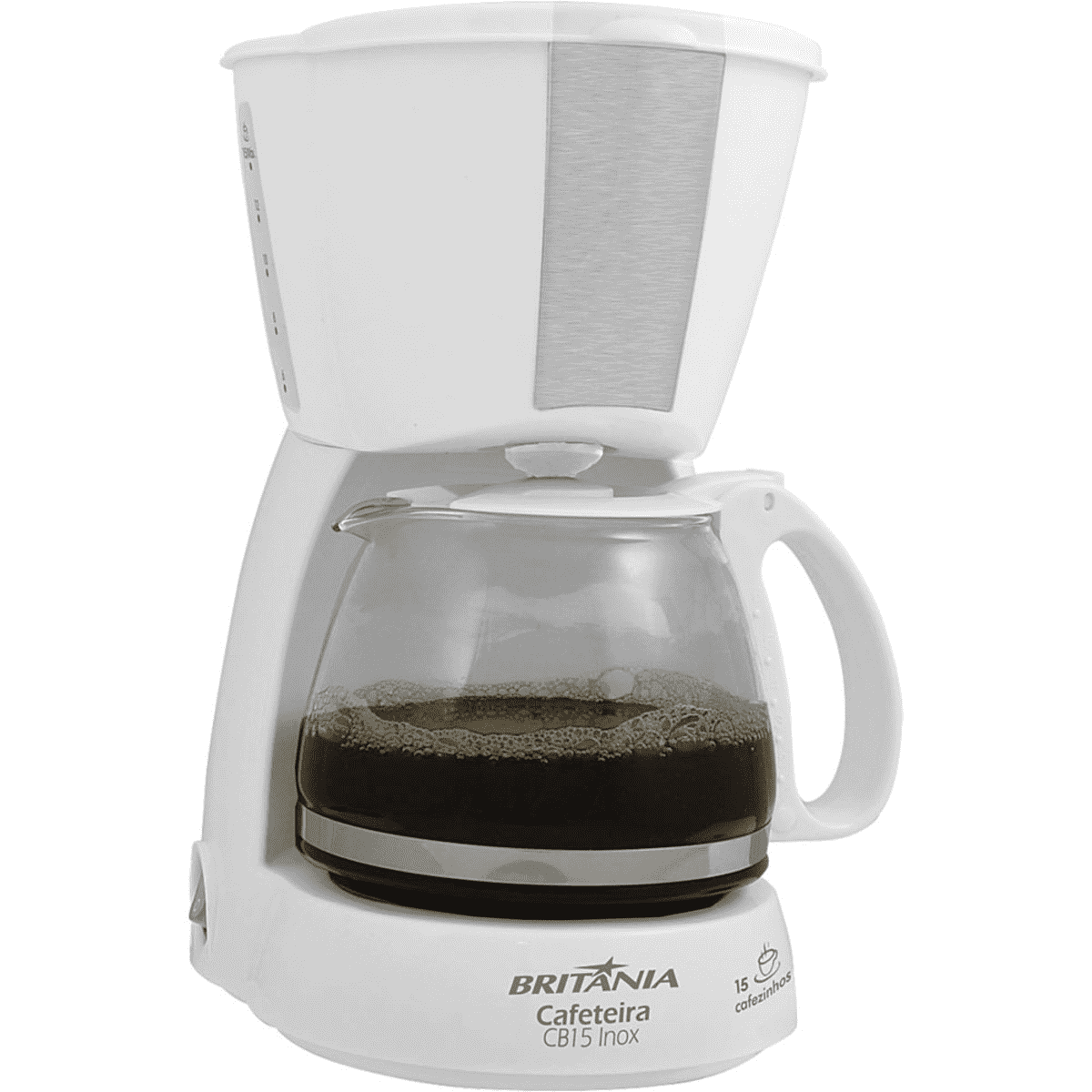 CAFETEIRA CB15 INOX 15 CAFEZINHOS 550W BR/INOX 127V - BRITANIA