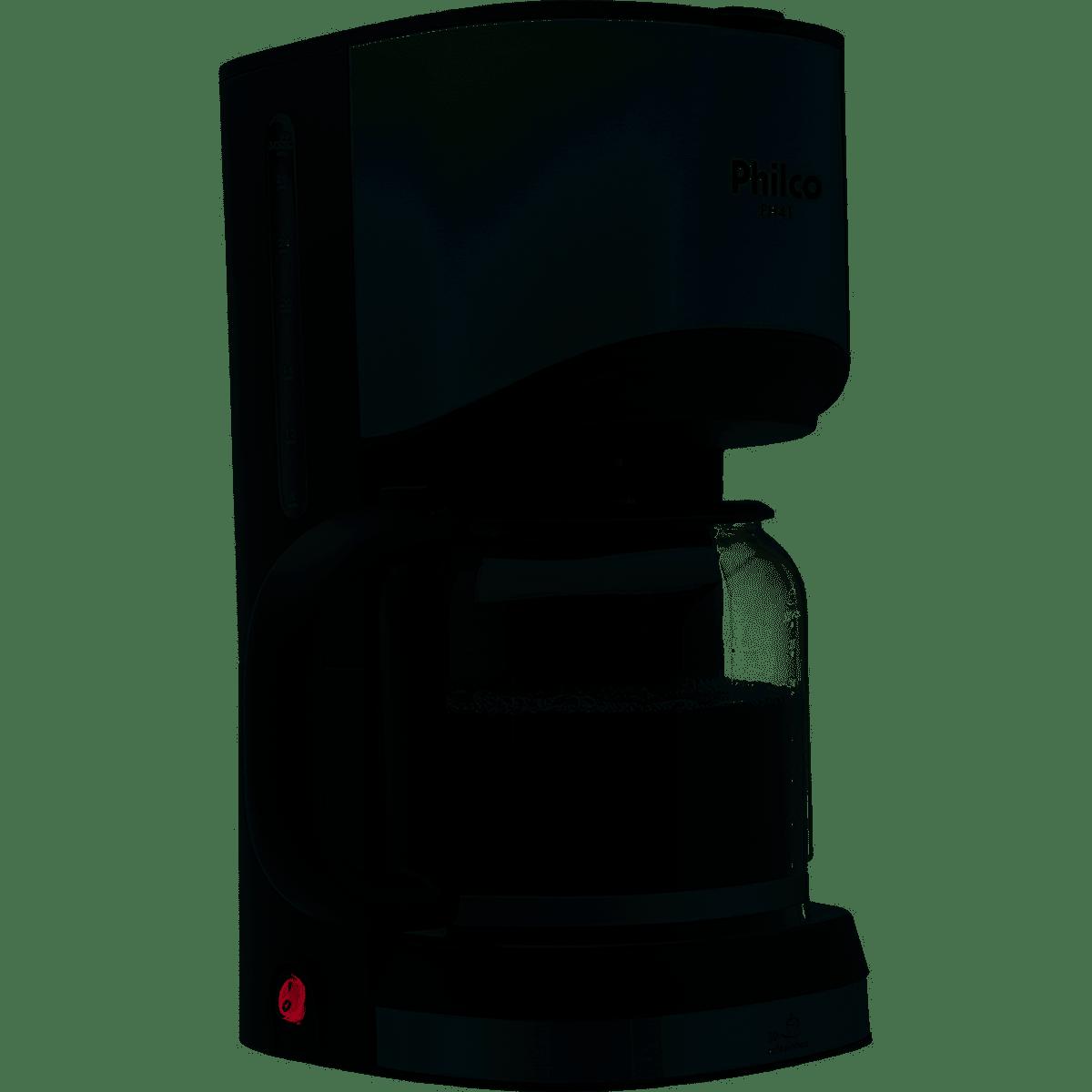 CAFETEIRA PH41 PRETO/PRATA 30 CAFÉS 127V - PHILCO