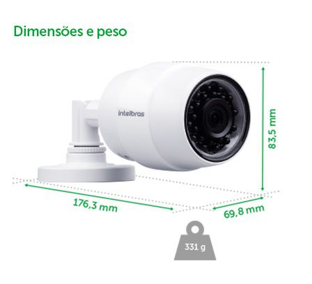 CAMERA SEGURANCA WIFI HD IC5 - INTELBRAS