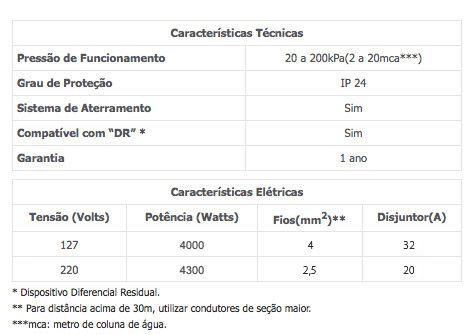 DUCHA HIGIÊNICA 3 TEMPERATURAS BRANCA 110V / 220V - LORENZETTI