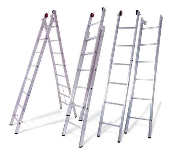 Escada de Alumínio Domestica 8 Degraus Dobrável - Reisam
