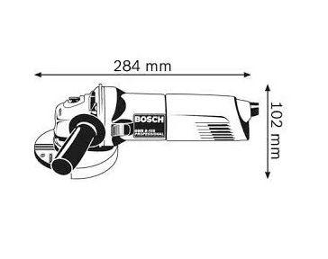 ESMERILHADEIRA ANGULAR GWS 4.1-2 127V - BOSCH