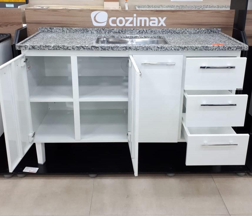 GABINETE AÇO PARA COZINHA VENUS FLAT 1,44MT BRANCO - COZIMAX