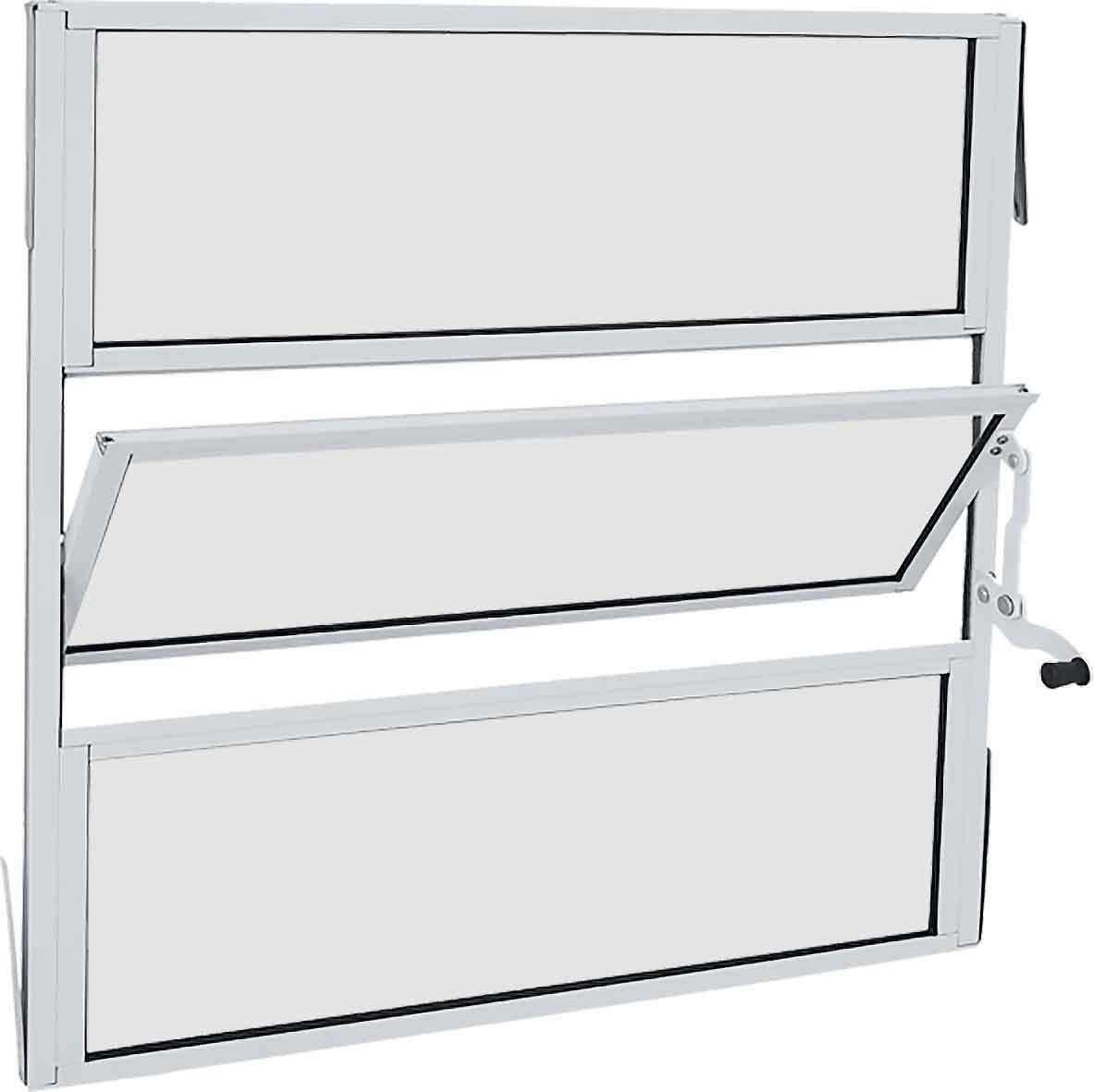 Janela Basculante Alumínio 60X60 - Branco
