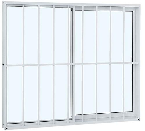 Janela de Correr Grade Classic Alumínio 100X120X6,4 CM - 2 Folhas - Branco