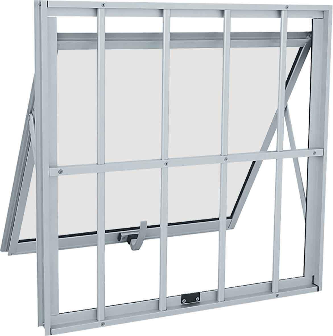 Janela Maxim-ar Grade Classic Alumínio 60X60 - Branco