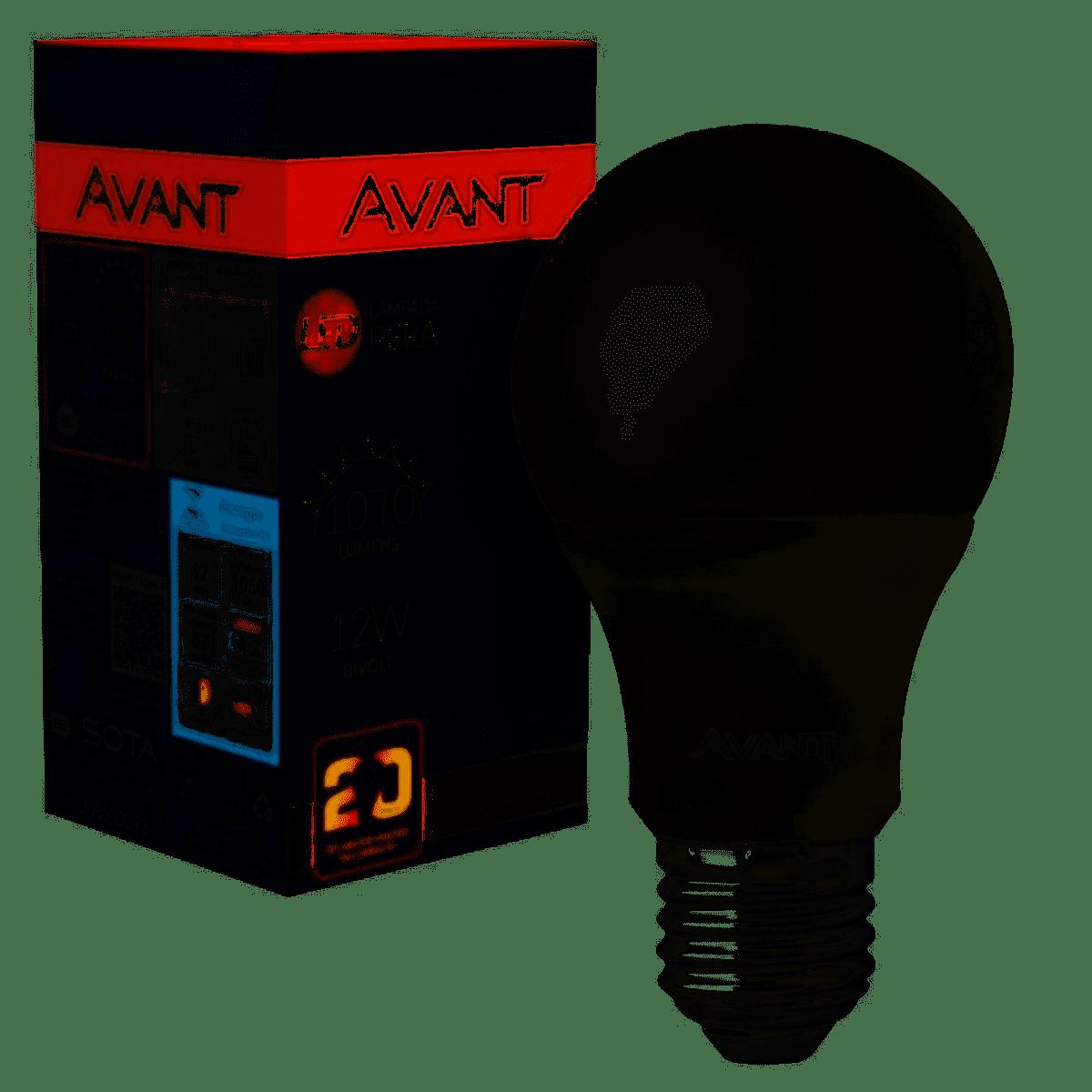 LÂMPADA LED PERA BULBO 12W E27 BIVOLT - AVANT