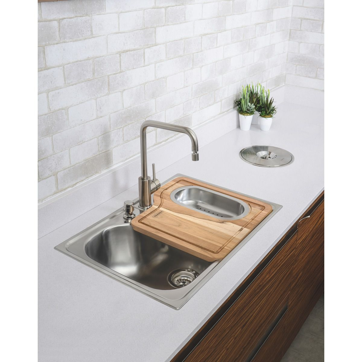 LIXEIRA DE EMBUTIR CLEAN 5 LITROS 94518005 - TRAMONTINA