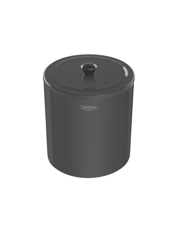 LIXEIRA ÚTIL BLACK INOX POLIDO C/TAMPA 5 LT - TRAMONTINA