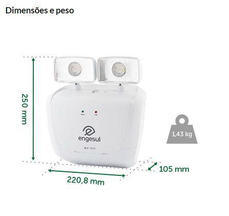 LUMINARIA EMERGÊNCIA AUTONOMA BLA-1000 - ENGESUL