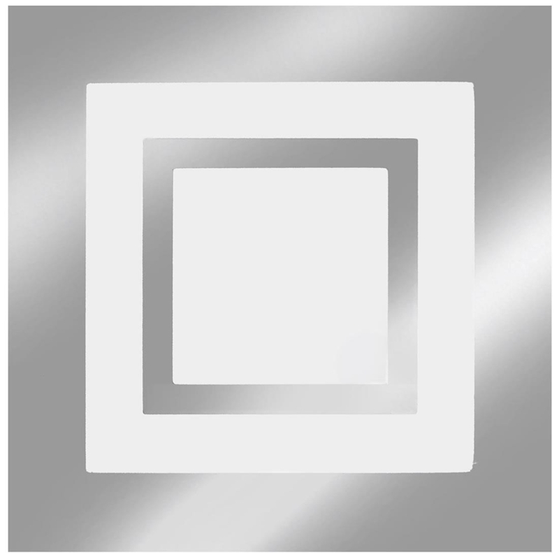 LUMINÁRIA LED EMBUTIR ROMA ESPELHADO 16W 6500K (LUZ BRANCA) 24X24CM - TUALUX