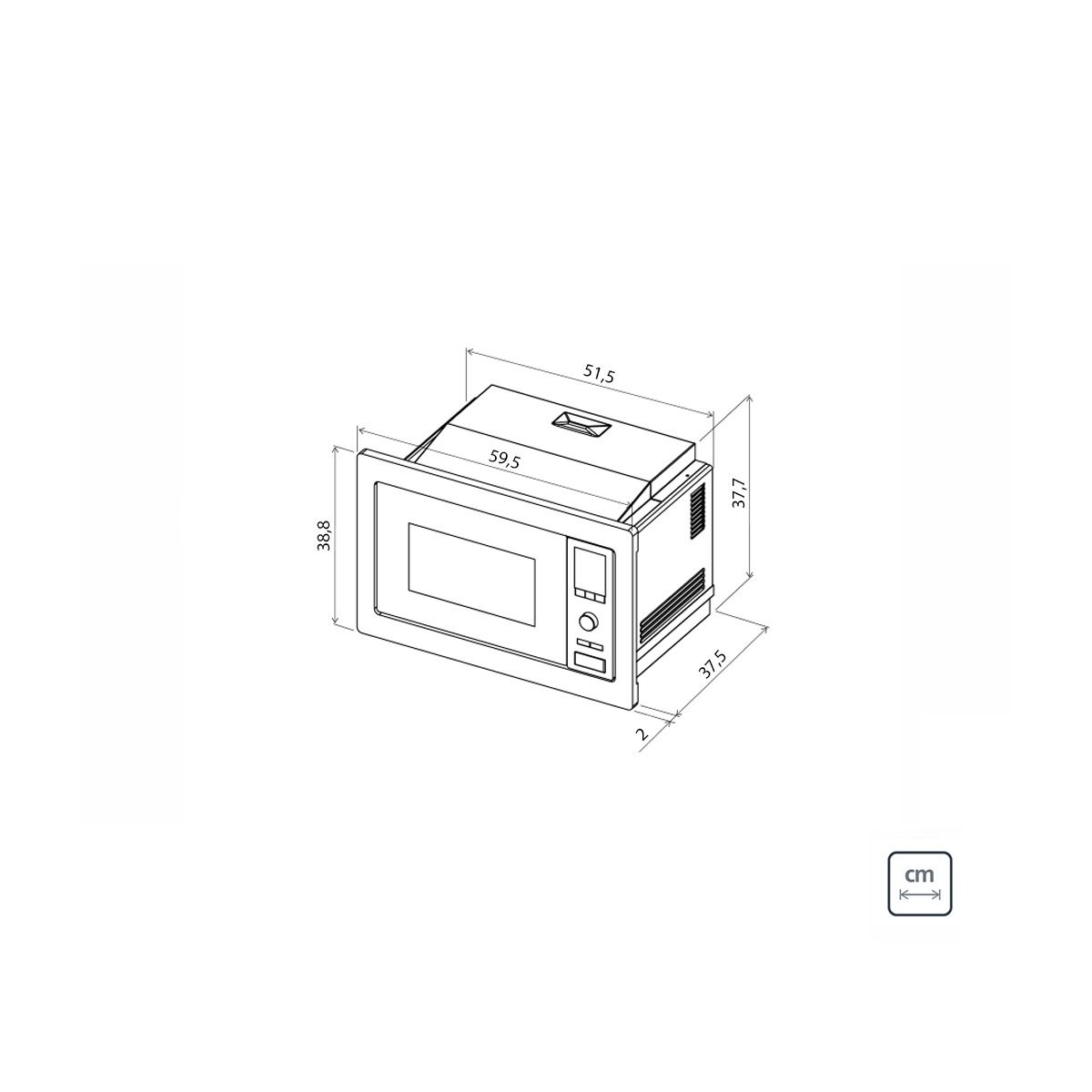 FORNO MICRO-ONDAS DE EMBUTIR 25 LITROS GLASS 60 220V - TRAMONTINA