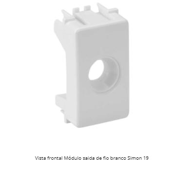 MÓDULO SAÍDA DE FIO BRANCO S19 / S20 - SIMON