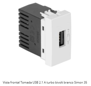 MÓDULO TOMADA USB 2.1A TURBO BIVOLT S35 - SIMON