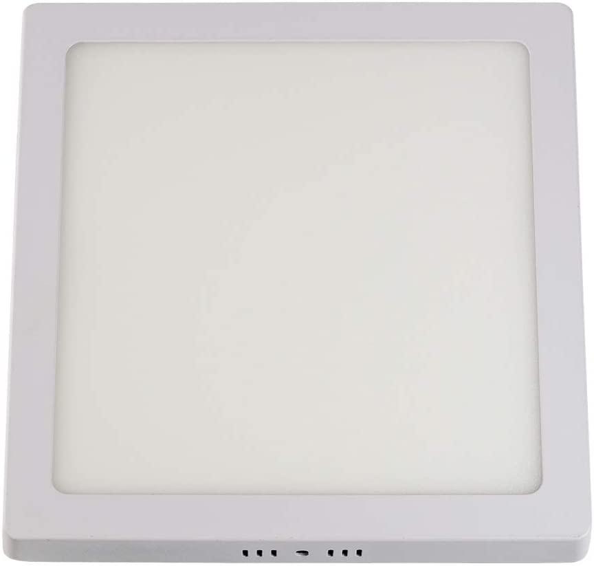 PAINEL PLAFON LED SOBREPOR QUADRADO 06W 6500K  (LUZ BRANCA) 11X11X2,4CM - TASCHIBRA