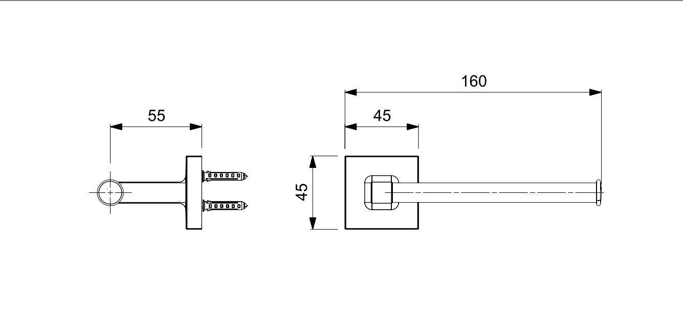 PAPELEIRA UP CROMADO B5020CLCR0 - CELITE