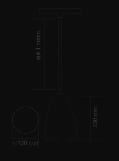 PENDENTE DETROIT BRANCO - KIN LIGHT
