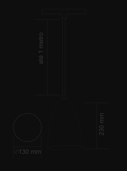 PENDENTE DETROIT COBREADO - KIN LIGHT