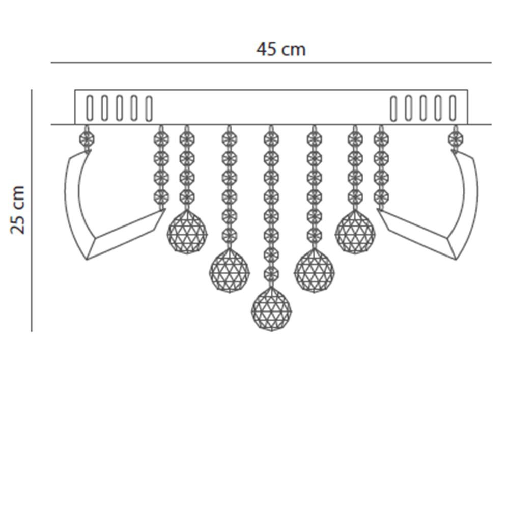 PLAFON LED DE CRISTAL GRETTA 24W 3000K - STARTEC