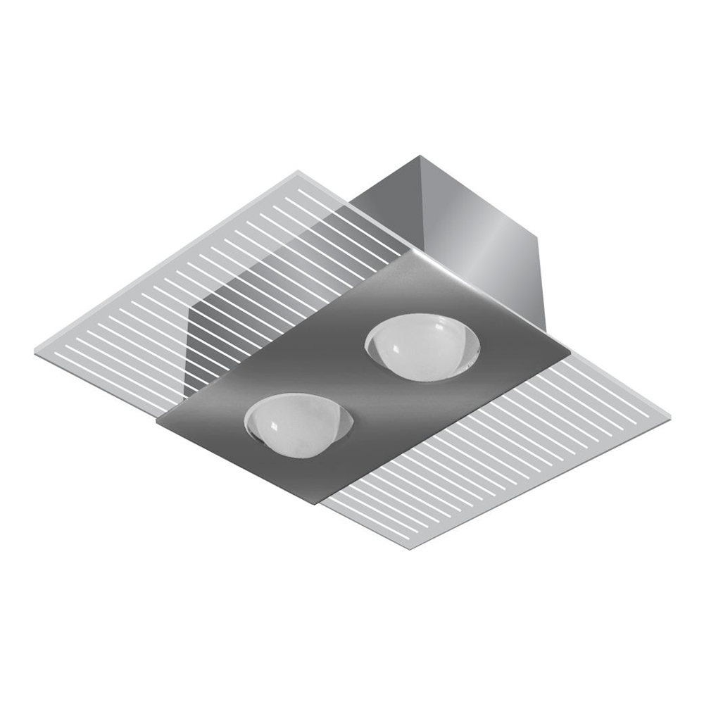 PLAFON LED RETANGULAR MÔNACO ESPELHO PARA 02 LÂMP. E27 33X23CM - TUALUX