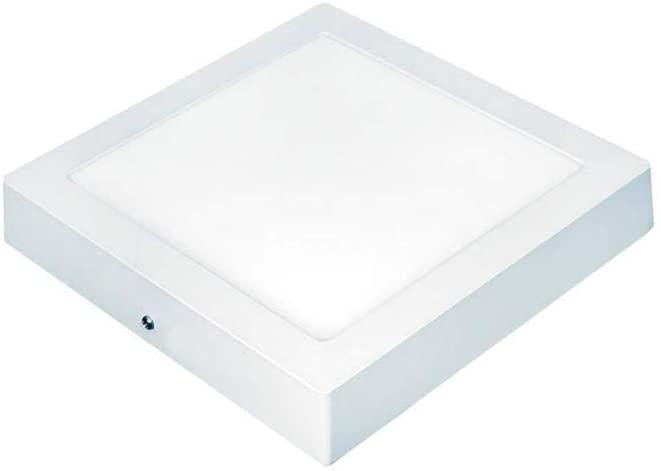PLAFON LED SOBREPOR QUADRADO 06W 3000K (LUZ AMARELA) BIVOLT 11X11X2,8CM - TASCHIBRA