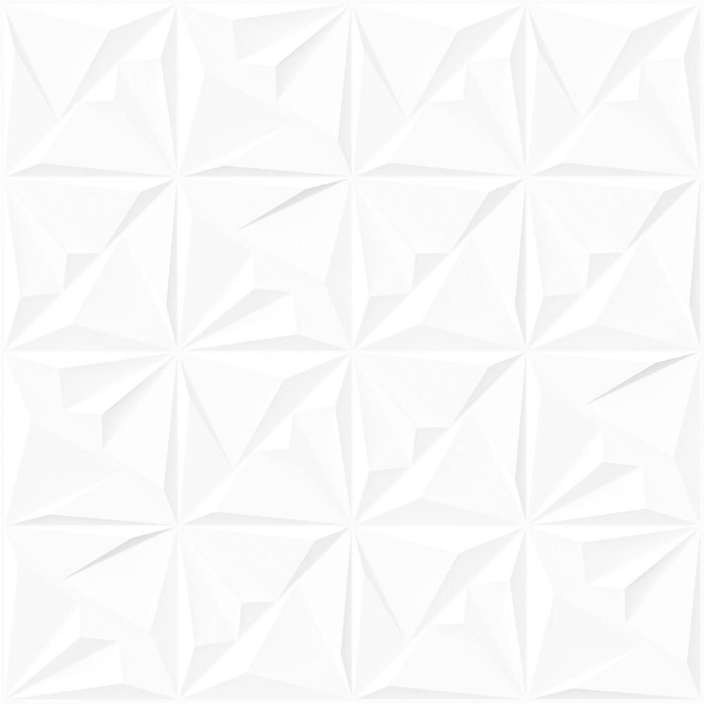 PORCELANATO ACETINADO RETIFICADO CLASSIC WHITE DECO 72X72 - VIA ROSA