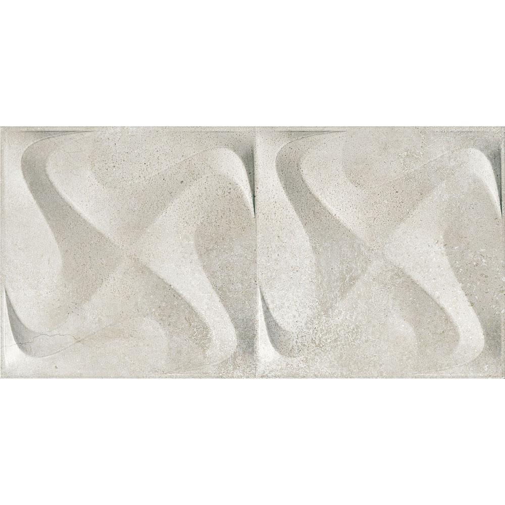 PORCELANATO PLUS SEATTLE SPIN WHITE ACETINADO RELEVO 3D 30X60 - INCEPA