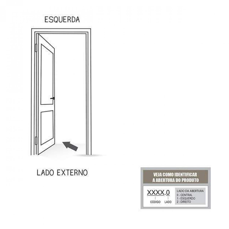 PORTA DE ALUMÍNIO ESQUERDA GIRO LAMBRI COM PUXADOR DE 40CM - LUCASA