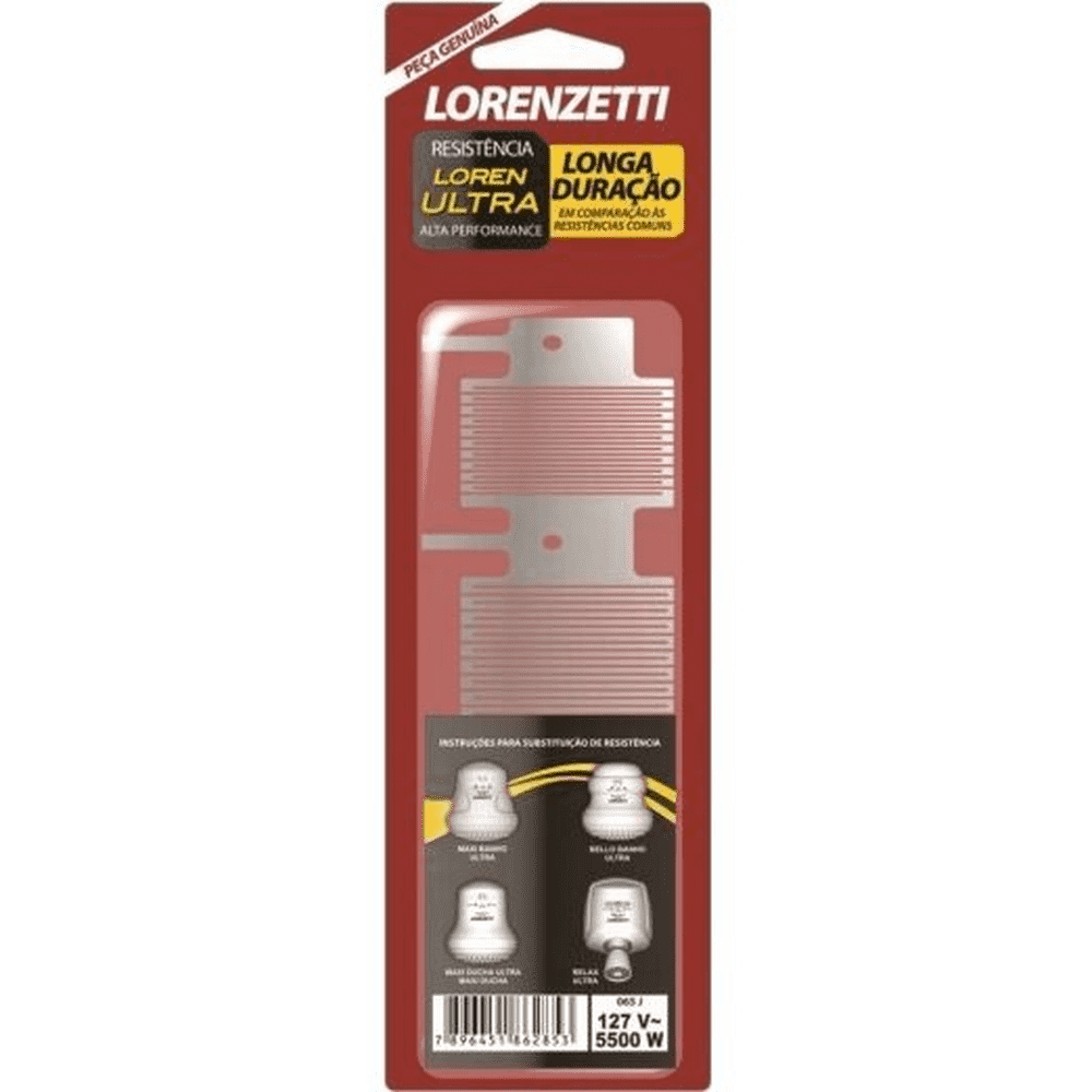 RESISTÊNCIA 3T LORENULTRA METAL PEQUENO 127V / 220V - LORENZETTI