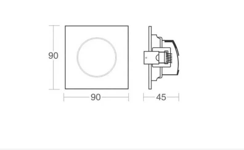 SPOT LED ALLTOP MR16 QUADRADO 5W 6500K - TASCHIBRA