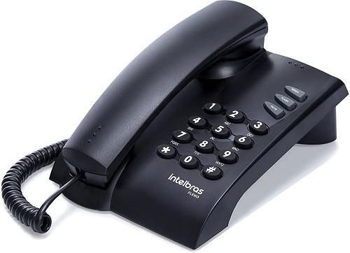 Telefone fixo Intelbras Pleno Cinza Artico/Preto - Intelbras