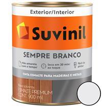 TINTA ESMALTE PREMIUM ACETINADO SEMPRE BRANCO 900ML MADEIRAS E METAIS - SUVINIL