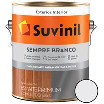 TINTA ESMALTE PREMIUM BRILHANTE SEMPRE BRANCO 3,6L MADEIRAS E METAIS - SUVINIL