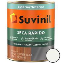 TINTA ESMALTE SINTÉTICO ACETINADO SECA RÁPIDO BASE ÁGUA 900ML BRANCO - SUVINIL