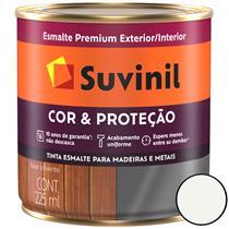 TINTA ESMALTE SINTÉTICO BRILHANTE COR E PROTEÇÃO 225ML PARA MADEIRA/METAL - SUVINIL