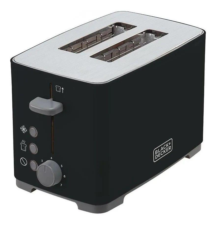 Tostador De Pão 800W 7 Temperaturas Black & Decker 127V