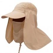 Boné EchoLife Legionário c/ Máscara Proteção UV - Caqui