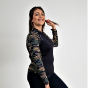Camiseta Feminina Vitho Gola Padre Camuflada Proteção UV50+