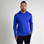 Camiseta Masculina Vitho C/ Capuz Proteção UV50+ Azul