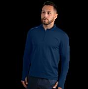 Camiseta Masculina Vitho Gola Padre Proteção UV50+ C/ Zíper - Marinho