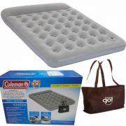 Colchão Inflável Casal C/ Bomba Airbed Coleman + Sacola