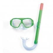 Kit de Mergulho Snorkel + Máscara Infantil Bestway Fundive - Verde