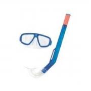 Kit Snorkel + Máscara Infantil Bestway Freestyle Ajustável - Azul