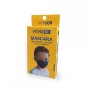 Kit 5 Máscaras Proteção Vitho Confort 50+ UV Infantil - Preto