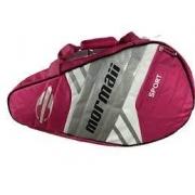Raqueteira Mormaii Beach Tennis Sport C/ Compartimentos - Rosa